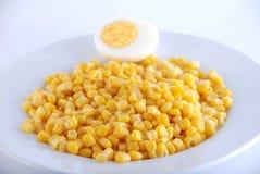 Milho e ovo Imagens de Stock