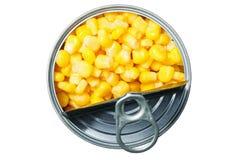 Milho enlatado Fotos de Stock Royalty Free