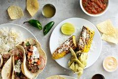 Milho grelhado mexicano fotografia de stock