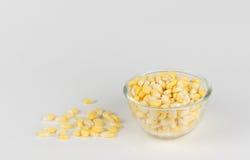 Milho isolado em um fundo branco Imagem de Stock