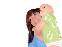 Miliampère com criança Imagem de Stock Royalty Free