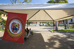 Milicia Bolivariana workshop in public plaza in Ciudad Bolivar, Royalty Free Stock Images