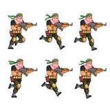 Milicia que corre Sprite ilustración del vector