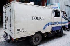 Milicyjna ciężarówka na ulicie przy samiec Maldives Zdjęcia Royalty Free