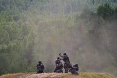 Milicyjna oddziału lotniczego ratuneku demonstracja Fotografia Stock