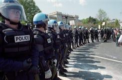 milicyjna protestacyjna zamieszka Zdjęcie Stock