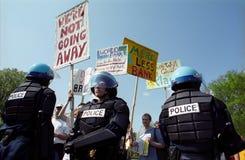 milicyjna protestacyjna zamieszka Zdjęcia Stock