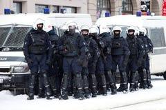 milicyjna zamieszka Obrazy Royalty Free