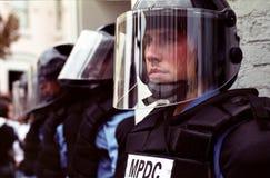 milicyjna zamieszka Zdjęcia Royalty Free