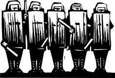 milicyjna zamieszka Zdjęcie Royalty Free