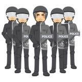 Milicyjna zamieszki drużyna ilustracja wektor
