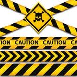 Milicyjnej linii i niebezpieczeństwa taśmy Zdjęcie Stock