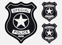 Milicyjnej odznaki monochromu Prosty znak royalty ilustracja