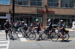 Milicyjni mężczyzna w Toronto na rowerach Obrazy Stock