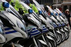 Milicyjni motocykle Fotografia Stock