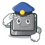 Milicyjny alt guzik w kreskówka kształcie ilustracji