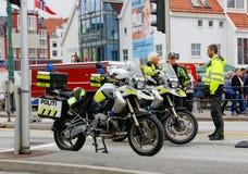 Milicyjny blokada na drodze Fotografia Royalty Free