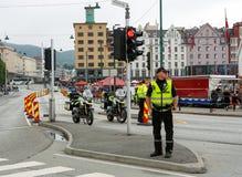 Milicyjny blokada na drodze obraz royalty free