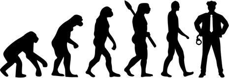 Milicyjny ewolucja wektor royalty ilustracja