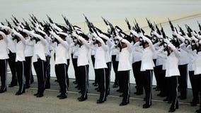 Milicyjny kontyngent target578_0_ Feu De Joie Obraz Royalty Free