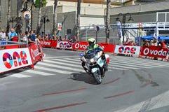 Milicyjny motocykl Zdjęcia Royalty Free