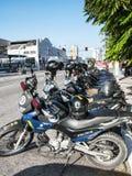 Milicyjny motocykl w rzędzie Obraz Royalty Free