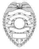 Milicyjny odznaki puste miejsce Zdjęcie Royalty Free