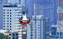 Milicyjny patrol w helikopterze Zdjęcie Stock