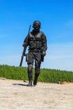 Milicyjny snajper w akci Zdjęcie Stock