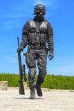 Milicyjny snajper w akci Zdjęcia Stock
