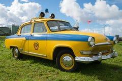 Milicyjny Volga GAZ-21 na festiwalu retro transport Fotografia Royalty Free