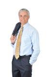 milieu âgé de jupe d'homme d'affaires au-dessus d'épaule Photos libres de droits