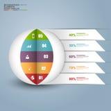 Milieu économique 3D numérique abstrait Infographic Images libres de droits