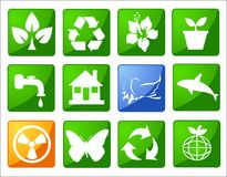 Milieu behoud sym Stock Foto