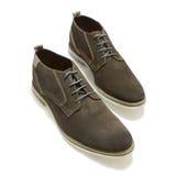 Milieu Brown des chaussures de sport des hommes photo stock