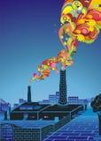 milieu concept, het globale verwarmen Royalty-vrije Stock Afbeelding