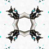 Milieu d'univers de kaléidoscope de batik Image libre de droits