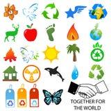 milieu emblemen Stock Afbeeldingen