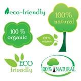 Milieu etiketten Stock Afbeeldingen