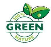 Milieu groen embleem Royalty-vrije Stock Foto