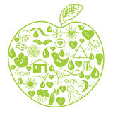 Milieu groene appel Royalty-vrije Stock Foto's