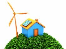 Milieu huis vector illustratie