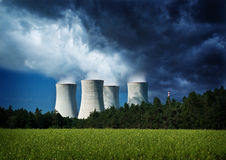 milieu, kerncentrale Stock Foto's