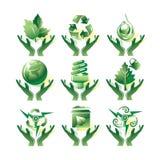 Milieu pictogrammen Royalty-vrije Stock Afbeelding