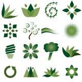Milieu pictogrammen Stock Afbeelding