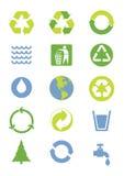 Milieu pictogrammen Stock Foto