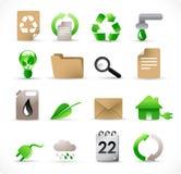 Milieu pictogrammen Stock Foto's