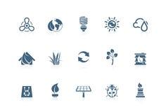 Milieu pictogrammen | piccolofluit reeks Royalty-vrije Stock Afbeelding