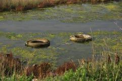 Milieu problemen stock foto