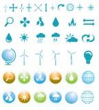 De tekens en de symbolen van het milieu Royalty-vrije Stock Afbeeldingen